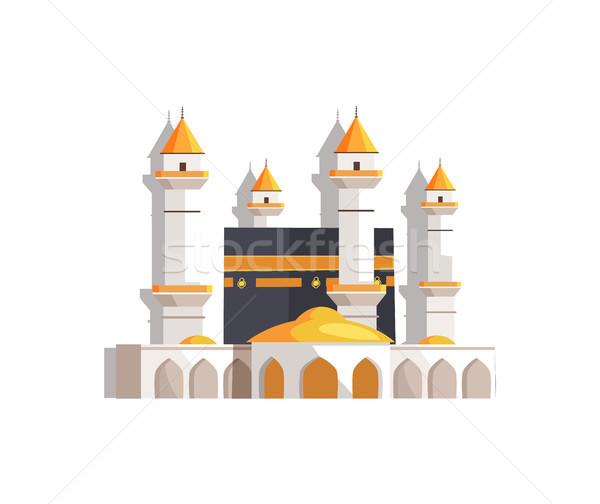 Przepiękny arabski meczet wysoki święty Zdjęcia stock © robuart