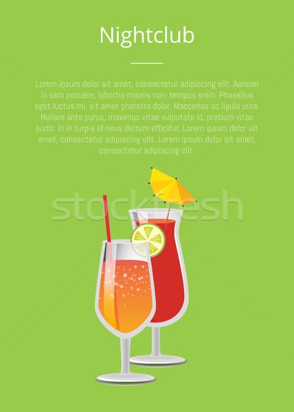 Discotheek partijen limonade cocktails bril stro Stockfoto © robuart