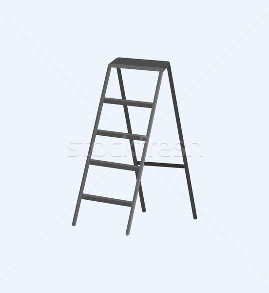 Aluminum Stepladder Self-Supporting Object Vector Stock photo © robuart