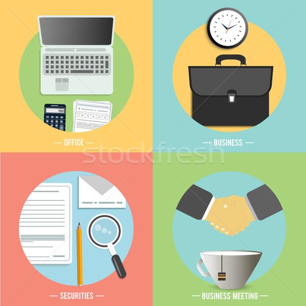 бизнеса служба маркетинга иконки веб-дизайна объекты Сток-фото © robuart