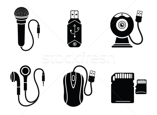 Icon set in black for digital devices Stock photo © robuart