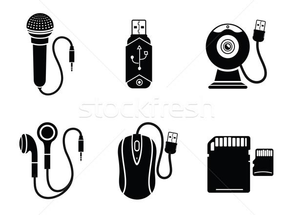 Czarny cyfrowe internetowych kamery Zdjęcia stock © robuart