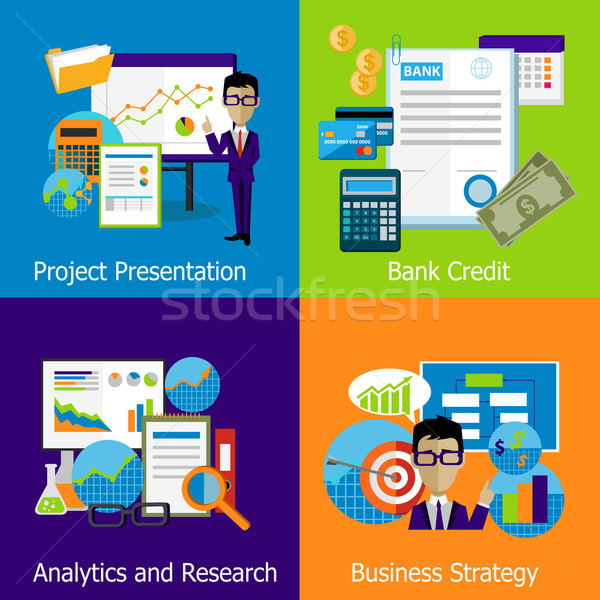 Concept Business Strategy Analytics and Research Stock photo © robuart