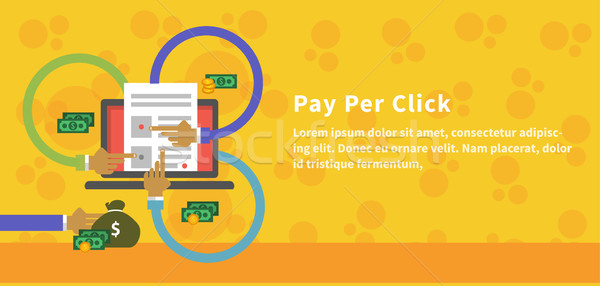 Pay Per Click Design Concept Style Stock photo © robuart