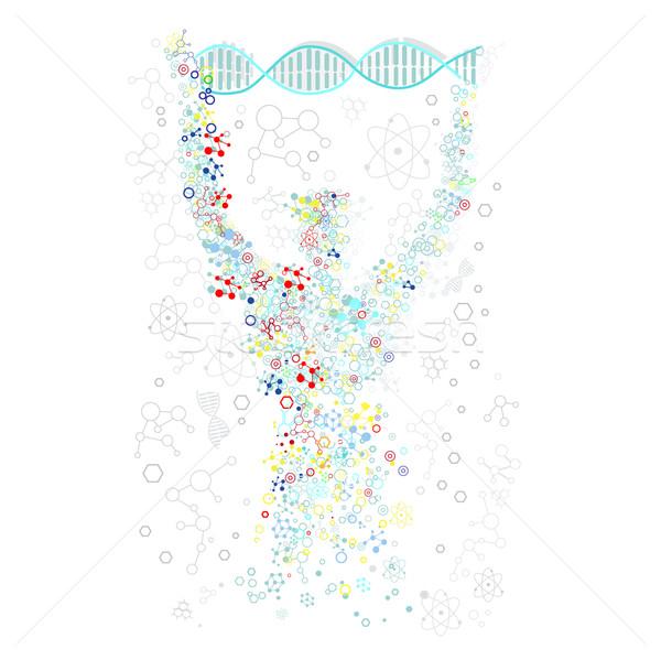 Forma homem humanismo dna científico pesquisa científica Foto stock © robuart