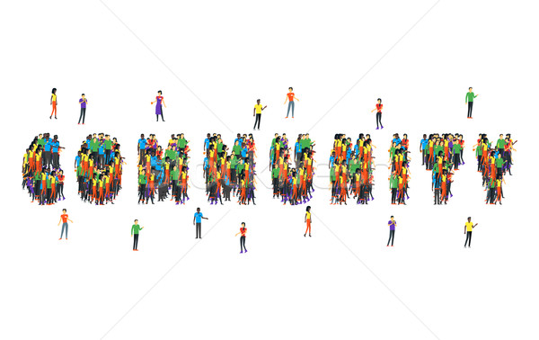 Community Word Form People Design Stock photo © robuart