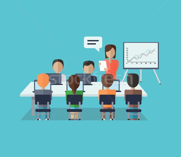 бизнеса семинара подготовки сотрудников брифинг презентация Сток-фото © robuart