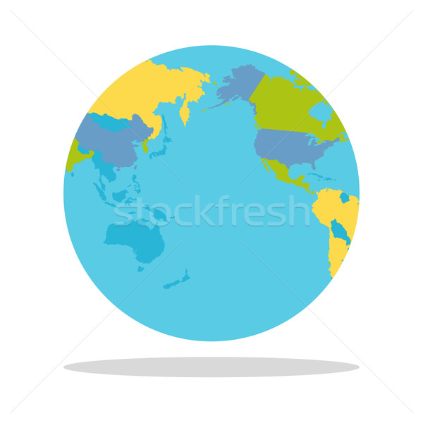 Planeten Erde Länder Welt Welt politischen Karte Stock foto © robuart