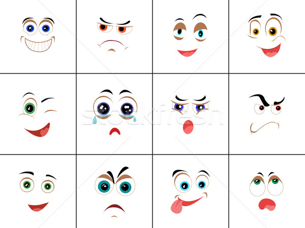 Set of Smileys with Expression of Emotions Stock photo © robuart