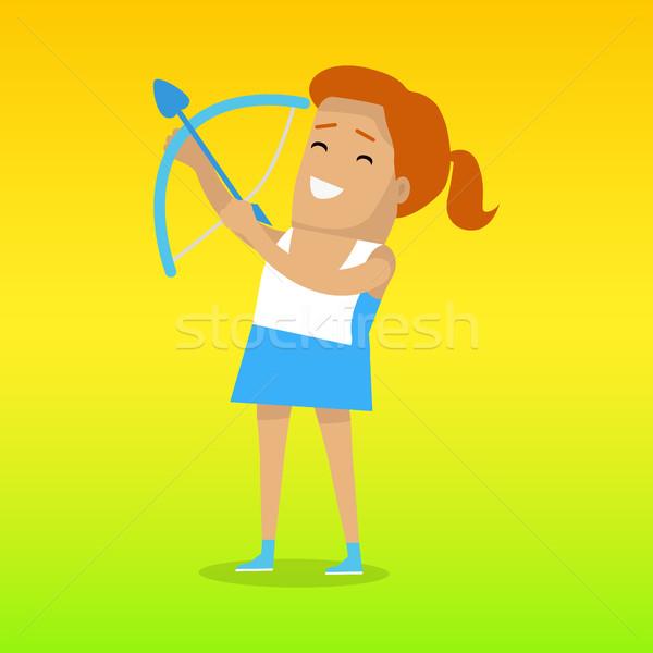 夏 ゲーム カラフル バナー アーチェリー スポーツ ストックフォト © robuart