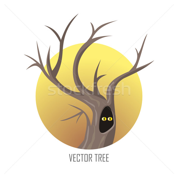 Vector tree. Oak Isolated on White. Vector Stock photo © robuart