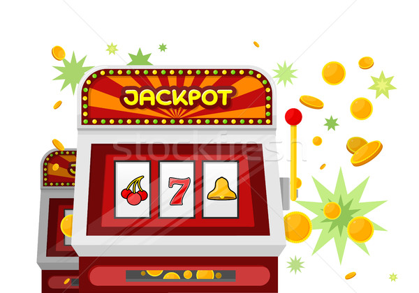 Slot Machine Web Banner Isolated on Green Stock photo © robuart