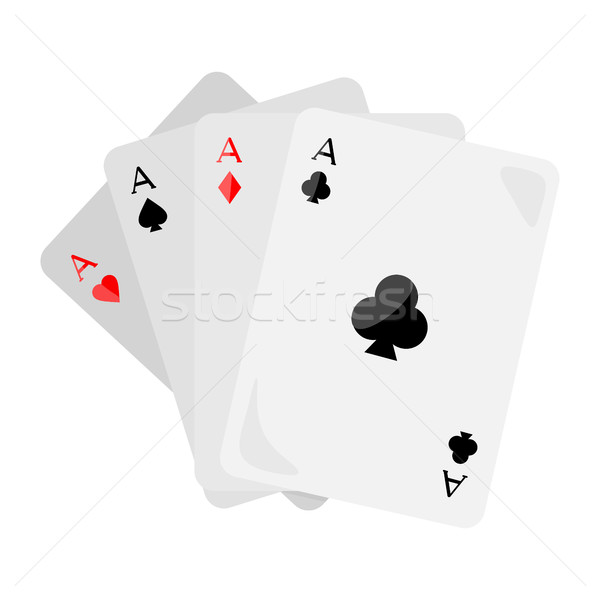 Four Aces of Diamonds Spades Hearts and Clubs Stock photo © robuart