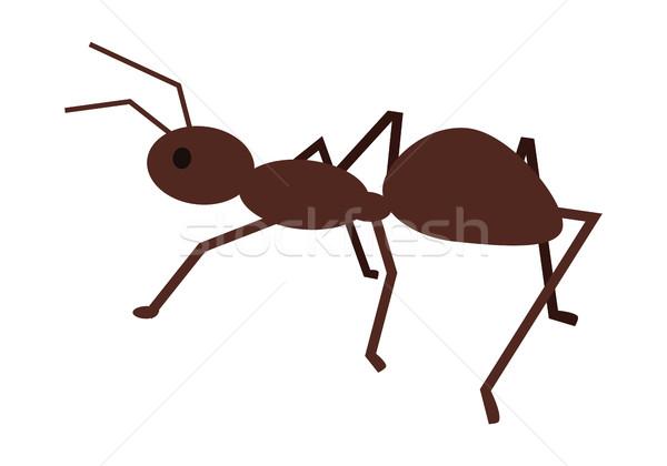 Hangya stílus terv társasági rovar illusztráció Stock fotó © robuart