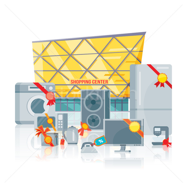 Big sale in Electronics Store Vector Flat Concept Stock photo © robuart