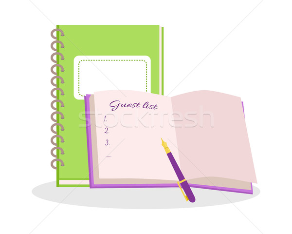 Wedding Notepads Flat Design Vector Illustration  Stock photo © robuart