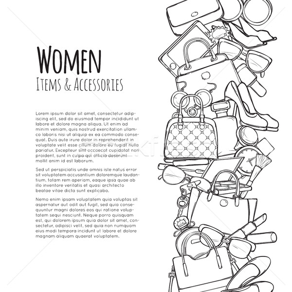 Women Items and Accessories Web Banner. Colourless Stock photo © robuart
