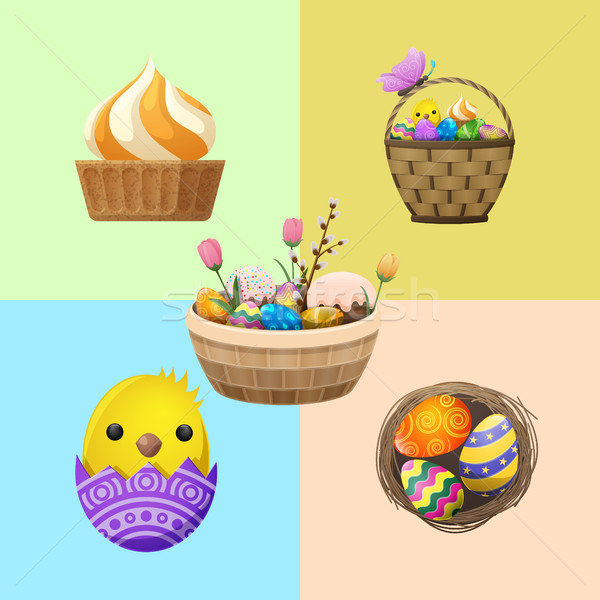Easter Concept with Holiday Attributes Vector Stock photo © robuart