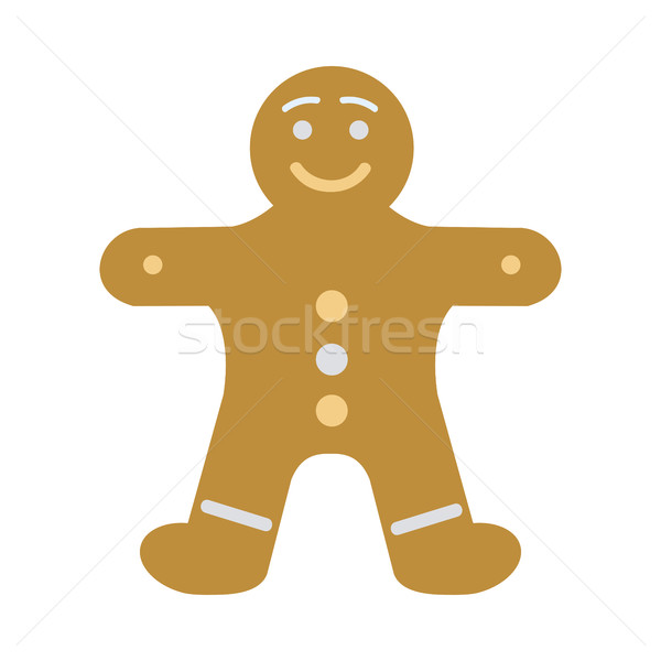 New Year Decorated Gingerbread in Shape of Man Stock photo © robuart