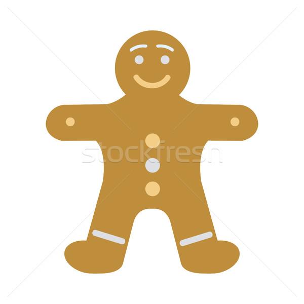 Capodanno decorato pan di zenzero uomo Foto d'archivio © robuart