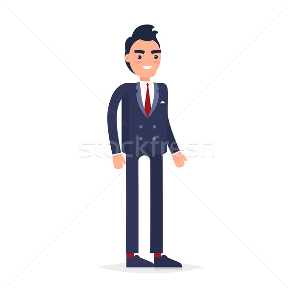 Stock photo: Businessman Character Isolated Vector Illustration