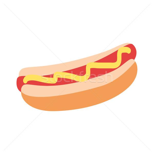 Sosisli sandviç sarı hardal grafik ikon dizayn Stok fotoğraf © robuart