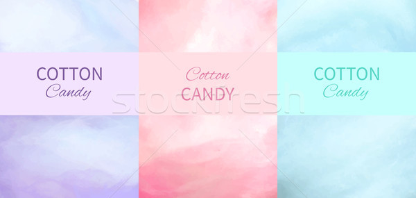 Coton bonbons horizons pourpre rose bleu Photo stock © robuart