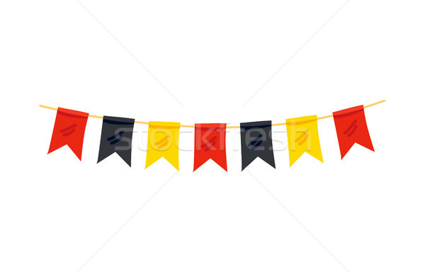 Colorful Flags in Color of German Flag Decoration Stock photo © robuart