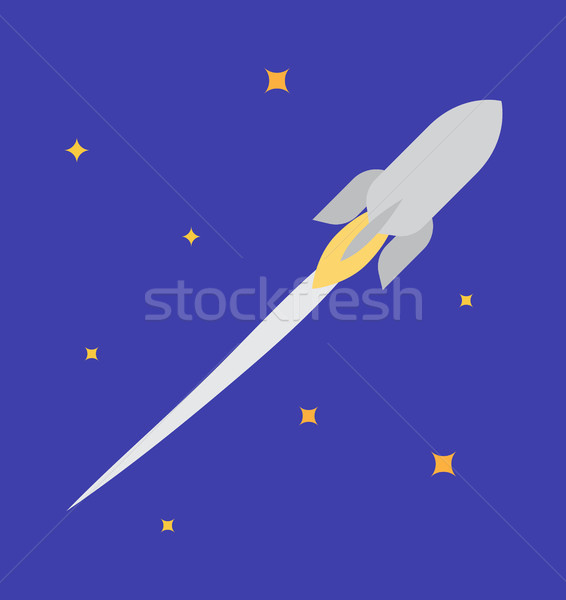 Jet Rocket in Open Space Vector Illustration Stock photo © robuart