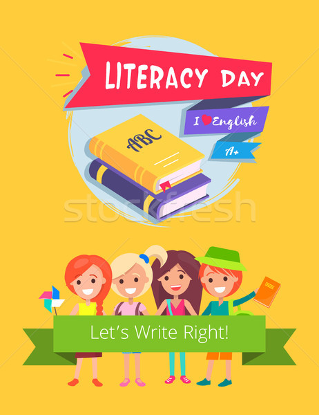 Literacy Day Celebration Vector Illustration. Stock photo © robuart