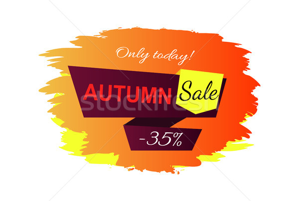 Stock photo: Only Today Autumn Sale -35 Vector Illustration