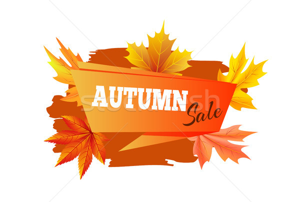 Outono venda promo cartaz manchete lugar Foto stock © robuart