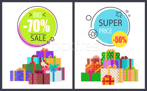 Big Total Sale - 70 Off Super Half Price Discounts Stock photo © robuart