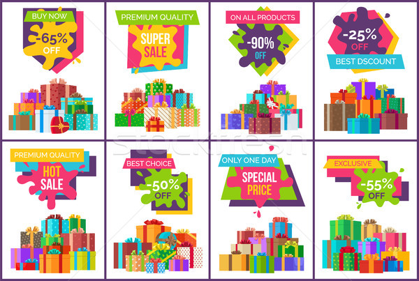 Buy Now Best Sale Exclusive Product Set of Posters Stock photo © robuart