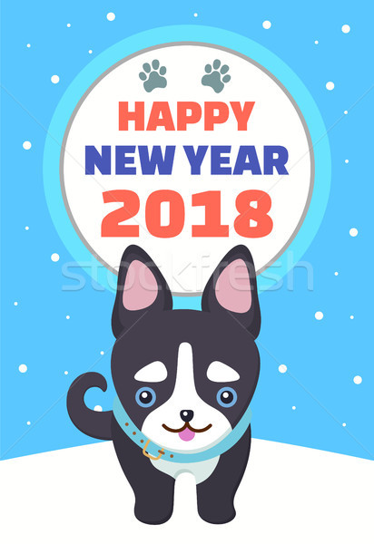 Happy New Year 2018 Poster Vector Illustration Stock photo © robuart