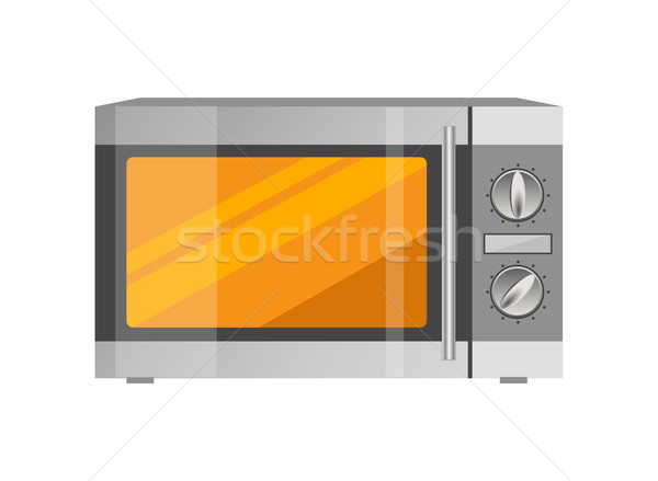 Powerful Microwave Oven in Shiny Metallic Corpus Stock photo © robuart