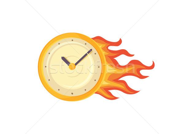 Stok fotoğraf: Saat · poster · ayarlamak · yangın · sembolik