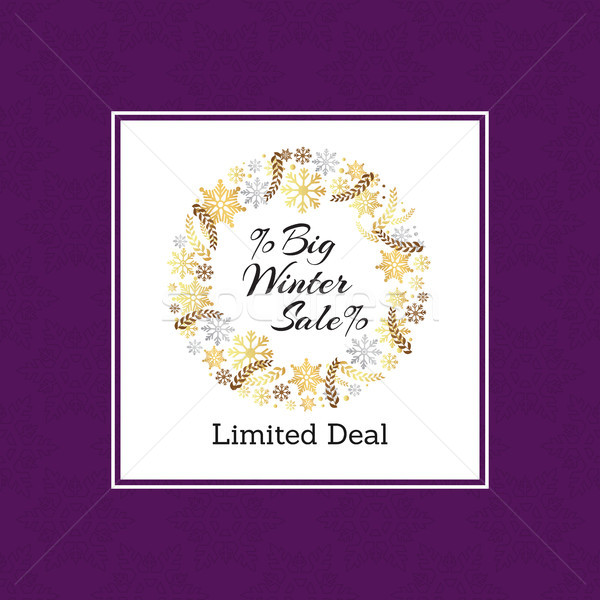 Big Winter Sale Limited Deal Vector Illustration Stock photo © robuart