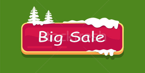 Big Sale Web Button Covered Snow, Online Shopping Stock photo © robuart