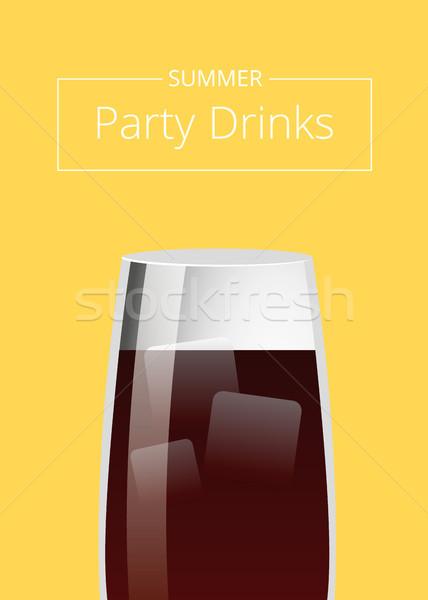 Lata strony napojów promo plakat koktajl Zdjęcia stock © robuart