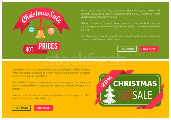 Premium Quality Hot Price Christmas Sale Card Stock photo © robuart