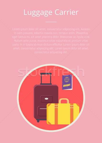 Luggage Carrier Hotel Closeup Symbol with Text Stock photo © robuart