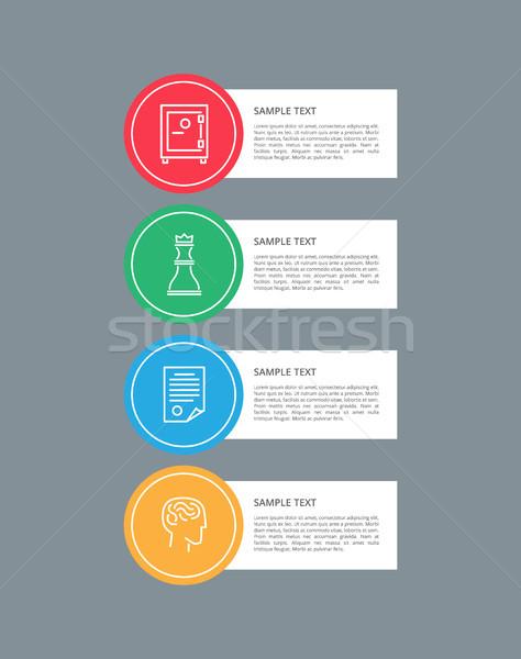 Elemente Rundschreiben Symbole Sammlung Schach Stock foto © robuart