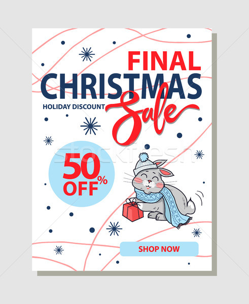 Final Christmas Sale 50 Off Promo Poster Shop Now Stock photo © robuart