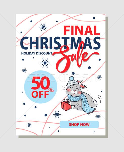 Finale Natale vendita 50 promo Foto d'archivio © robuart
