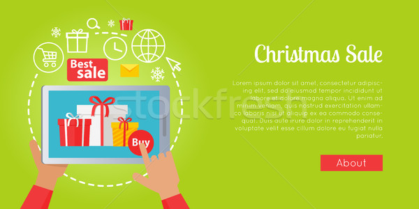Best Christmas Sale of Colourful Presents Online Stock photo © robuart