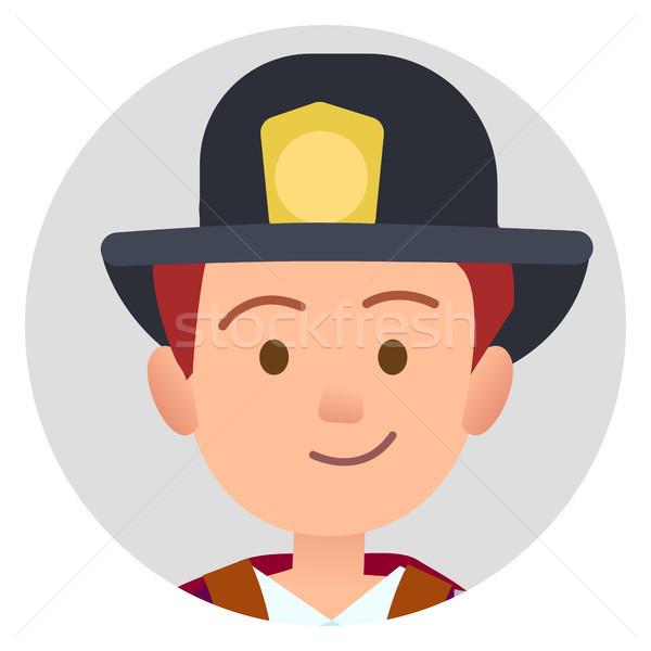 Little Future Firefighter in Uniform Illustration Stock photo © robuart