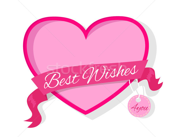 Best Wishes for You Fame in Pink Colors Decorated Stock photo © robuart