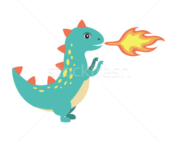 Dinossauro fogo imagem zangado veja Foto stock © robuart