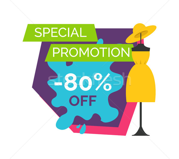 80 Off Special Promotion Logo with Dummy in Dress Stock photo © robuart